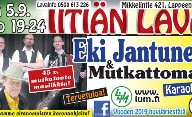 La 5.9. Eki Jantunen & Mutkattomat Iitiän lavalla