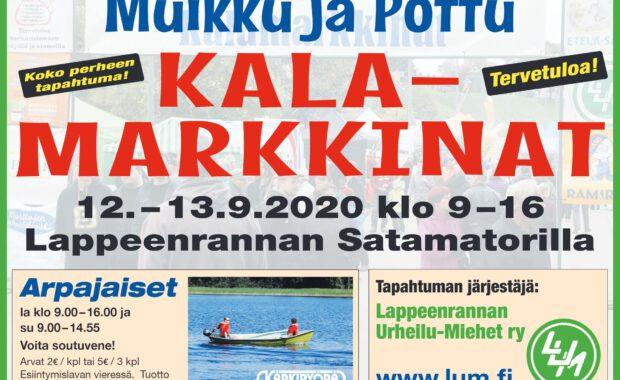 Muikku ja Pottu Kalamarkkinat viikonloppuna Satamatorilla