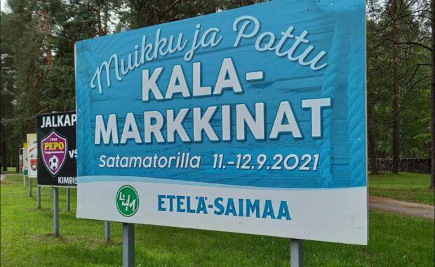 Muikku ja Pottu Kalamarkkinat Lappeenrannan Satamatorilla 11.-12.9.